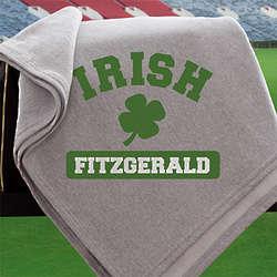 Personalized Irish Pride Shamrock Blanket