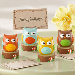 Whooo's the Cutest Baby Owl Place Card/Photo Holders