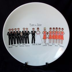 Personalized Wedding Party Ceramic Platter