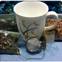 Green Grasses Tea Cup & Tea Sampler Gift Set