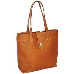 Brown Leather Columbian Tote