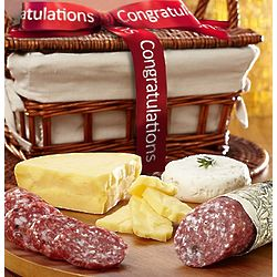Congratulations Sausage and Cheese Gift Basket
