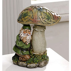 Mischievous Kneeling Celtic Gnome