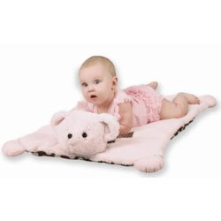 Pink Posh Dots Personalized Bear Belly Blanket