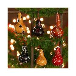 Andean Baubles Mate Gourd Ornaments