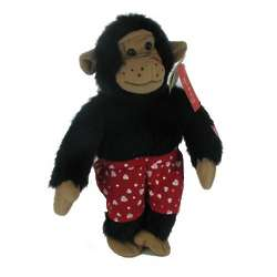 Plush Kissing Monkey with Heart Boxers