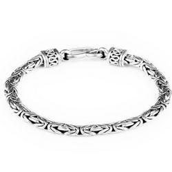 Exotic Sterling Silver Byzantine Bracelet