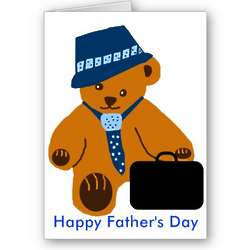 Daddy Bear Happy Father's Day Card