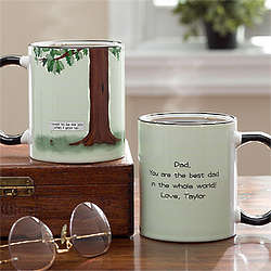 Dad's Acorn and Oak Tree Personalized Coffee Mug