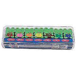 Day of the Week Froggy Erasers