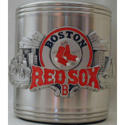 Boston Red Sox Stainless Steel and Pewter Can Cooler