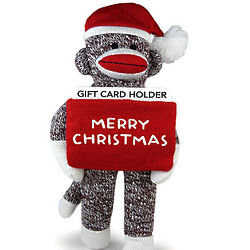 Sock Monkey Gift Card Holder
