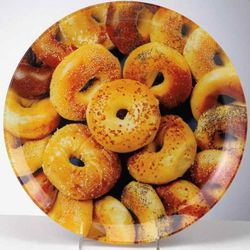 Glass Bagel Design Platter