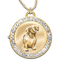 Time For Loving Reversible Dog Watch Pendant