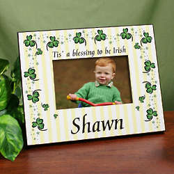 Tis' A Blessing To Be Irish Personalized Picture Frame