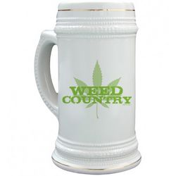 Weed Country Green Logo Stein