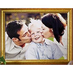 Personalized Gold Framed Photo Canvas Wall Art