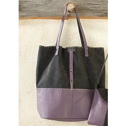 Avalon Two-Tone Unstructured Tote Bag