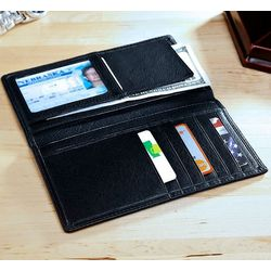 Personalized Classic Leather Jacket Wallet
