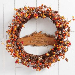 Personalized Fall Berry Wreath