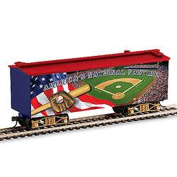 America's National Pastime Musical Box Car Figurine