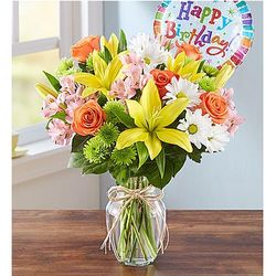 Fields of Europe Happy Birthday Large Bouquet