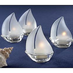 Sailboat Tea Light Wedding Favors