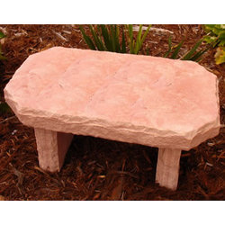 Personalized Flagstone Bench