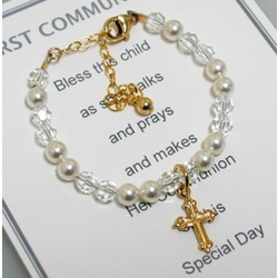 Gold Communion Bracelet