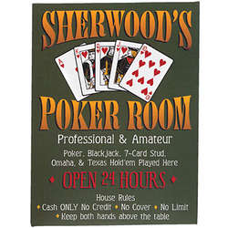 """Personalized """"Any Name's"""" Poker Room Canvas"""