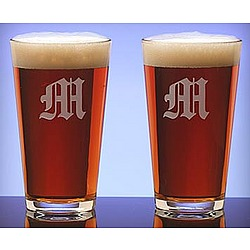 Personalized Beer Pint Glass Gift Set