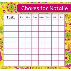 Personalized Flower Chore Chart