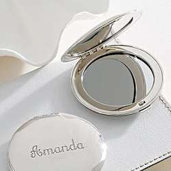 Personalized Purse Mirror