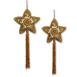 Beaded Star of Bethlehem Ornaments