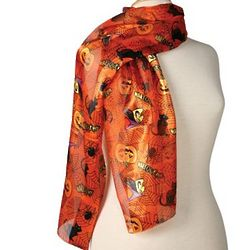 Orange Oblong Halloween Scarf