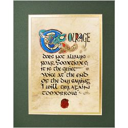 Celtic Themed Courage Matted Print