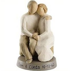 Personalized Sitting Couple Figurine