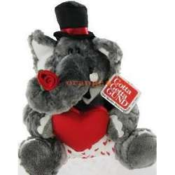 Small Gund Casanova Stuffed Elephant with Rose