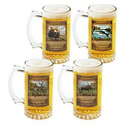 Personalized Big Game Beer Mug Set