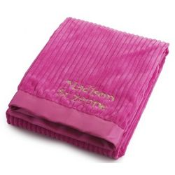 Bright Pink Ribbed Blanket