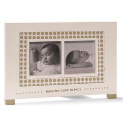 Miracles Come in Twos Twins Photo Frame