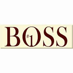 Number 1 Boss Sign