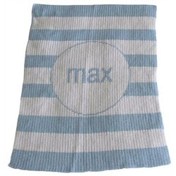 Personalized Stroller Blanket with Stripes
