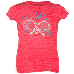 Junior Shocking Pink Love The Game Tee