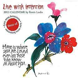 Small Live with Intention 2013 Wall Calendar