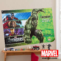 Medium Personalized Marvel Avengers Poster