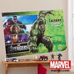 Medium Personalized Marvel Avengers Poster