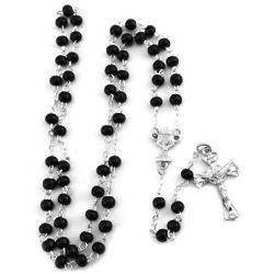 Black Wood Communion Rosary