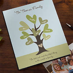 Personalized Leaves of Love Family Photo Album