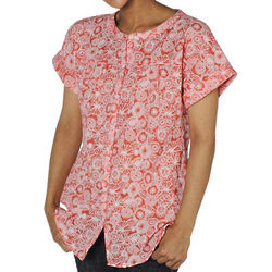 Lightweight Abstract Print Shirt